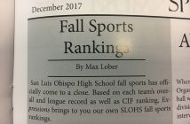 Fall Sports Rankings Update