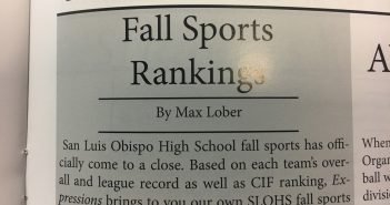 Fall Sports Rankings Update